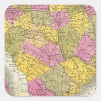 New Map Of South Carolina Square Sticker