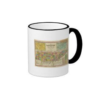 New Map Of Tennessee 2 Coffee Mug