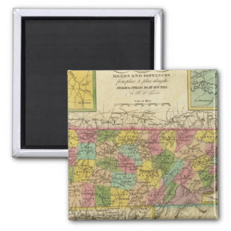 New Map Of Tennessee 2 Refrigerator Magnets