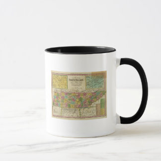 New Map Of Tennessee 2 Mug
