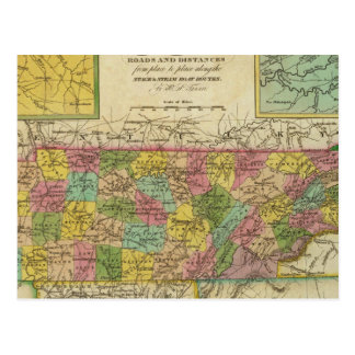 New Map Of Tennessee 2 Postcard