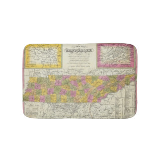 New Map Of Tennessee Bath Mat