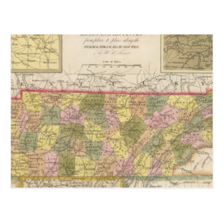 New Map Of Tennessee Postcard
