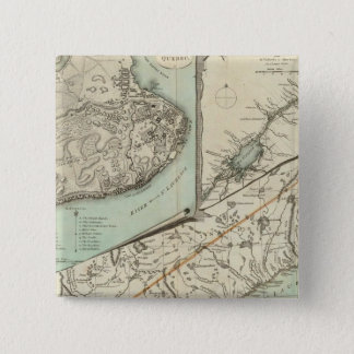 New Map Of The Province of Quebec Pinback Button
