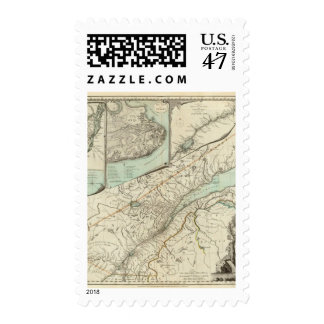 New Map Of The Province of Quebec Postage Stamp
