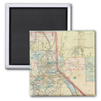New Map of the State of California 2 Inch Square Magnet