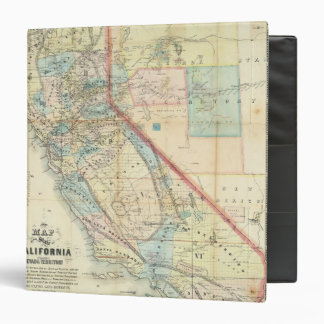 New Map of the State of California Binder