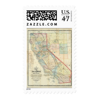 New Map of the State of California Postage