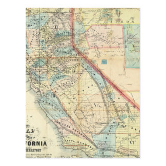 New Map of the State of California Postcard