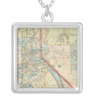 New Map of the State of California Square Pendant Necklace