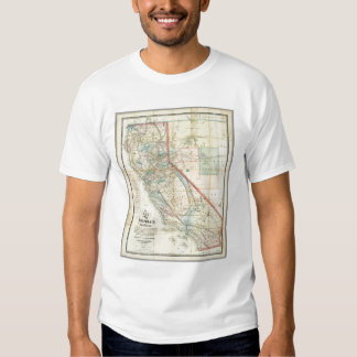 New Map of the State of California T-Shirt
