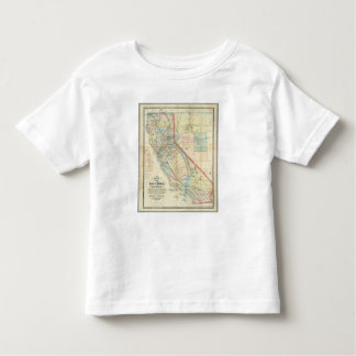 New Map of the State of California Toddler T-shirt