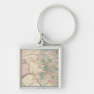New Map of the State of Texas Keychain