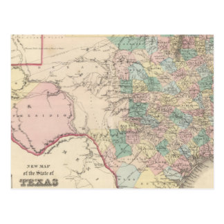 New Map of the State of Texas Postcard