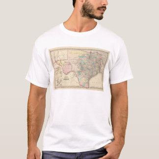 New Map of the State of Texas T-Shirt