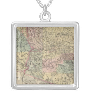 New Map of the Territory of Arizona Silver Plated Necklace