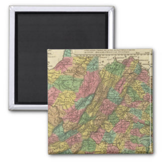 New Map Of Virginia 2 2 Inch Square Magnet