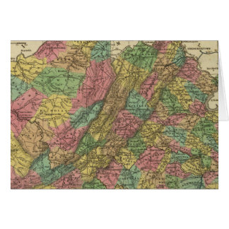 New Map Of Virginia 2 Greeting Card