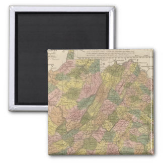 New Map Of Virginia 2 Inch Square Magnet
