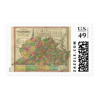 New Map Of Virginia 2 Stamp