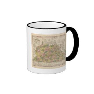 New Map Of Virginia Ringer Mug