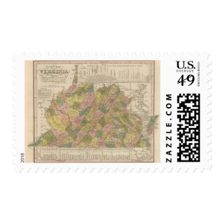 New Map Of Virginia Postage