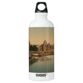 New Market and Bourse, Amsterdam, Netherlands Aluminum Water Bottle