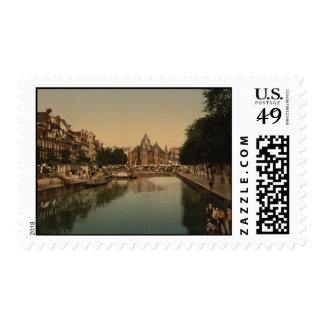 New Market and Bourse, Amsterdam, Netherlands Postage Stamps
