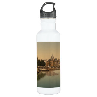New Market and Bourse, Amsterdam, Netherlands Stainless Steel Water Bottle