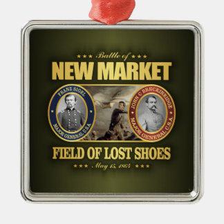 New Market (FH2) Square Metal Christmas Ornament