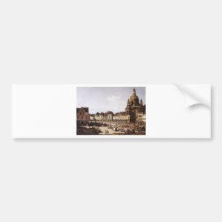 New Market Square in Dresden by Bernardo Bellotto Bumper Sticker