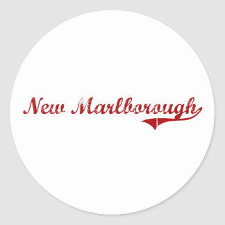 New Marlborough Massachusetts Classic Design Round Sticker
