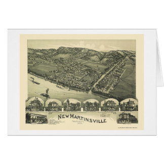 New Martinsville, WV Panoramic Map - 1899 Greeting Card