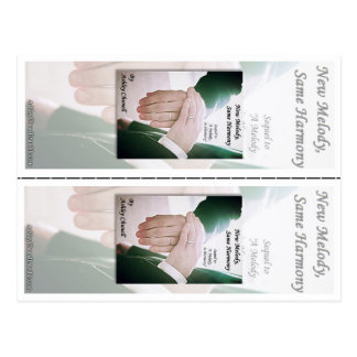 New Melody, Same Harmony -Ashley Chunell Bookmarks Post Cards
