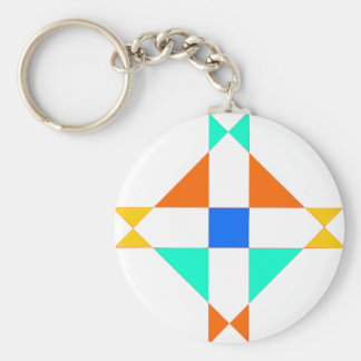 New-Mex-Four Corners Basic Round Button Keychain
