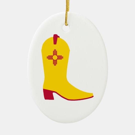 New Mexican Cowboy Boot Ceramic Ornament
