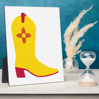 New Mexican Cowboy Boot Photo Plaques