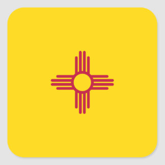 New Mexican Flag Square Sticker