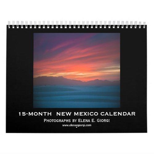 New Mexico 15_month calendar 2019_2020 Calendar