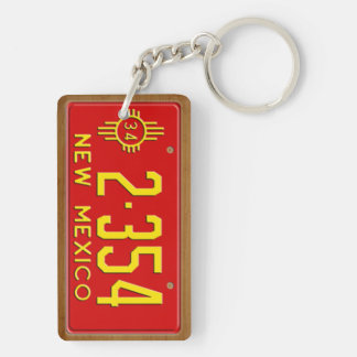 New Mexico 1934 Vintage License Plate Keychain