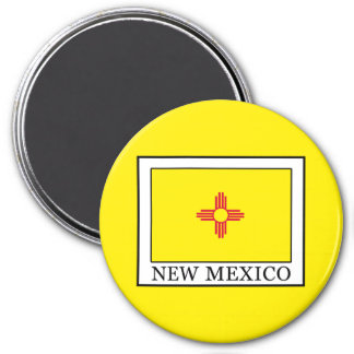 New Mexico 3 Inch Round Magnet
