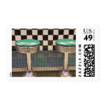 New Mexico, Albuquerque. The 66 Diner along Postage Stamps