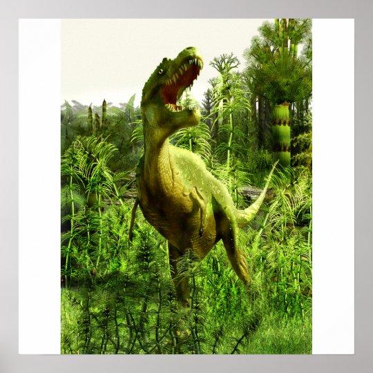 New Mexico Allosaurus Poster