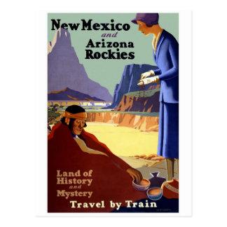 New Mexico and Arizona Rockies Vintage Travel Post Card