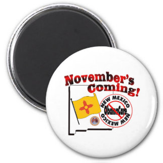 New Mexico Anti ObamaCare – November's Coming! 2 Inch Round Magnet