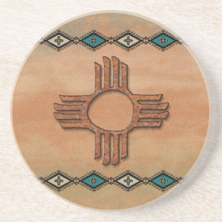 New México antiguo Zia Posavasos Manualidades