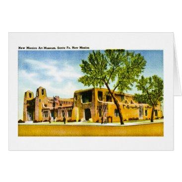 scenesfromthepast New Mexico Art Museum, Santa Fe, New Mexico Card