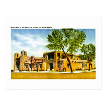 scenesfromthepast New Mexico Art Museum, Santa Fe, New Mexico Postcard