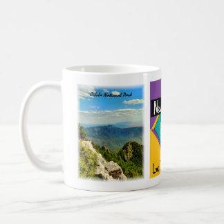 New Mexico, Balloons Over Blue Sandia Mtns, Cib... Coffee Mug
