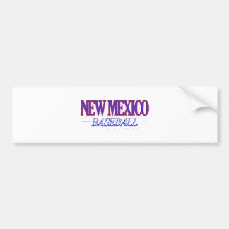 NEW MEXICO baseball DESIGNS Bumper Sticker